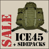 45ltr rugzak + sidepacks incl. GRATIS Source WXP 3ltr reservoir